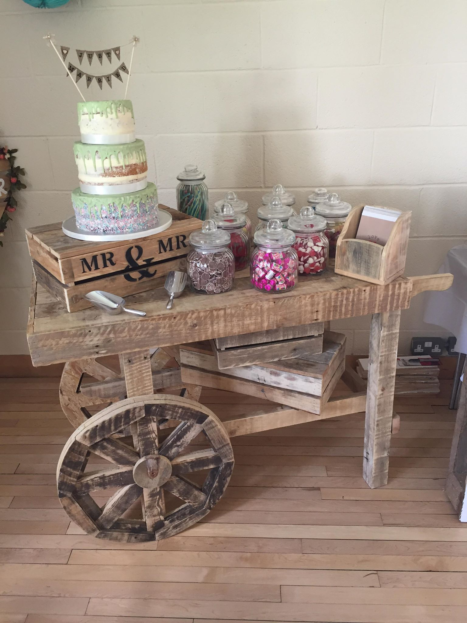Candy Cart Hire Rustic Prop Hire Sheffield Leeds Barnsley